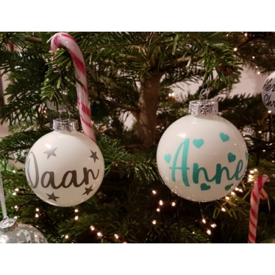 kerstbal met naam/tekst