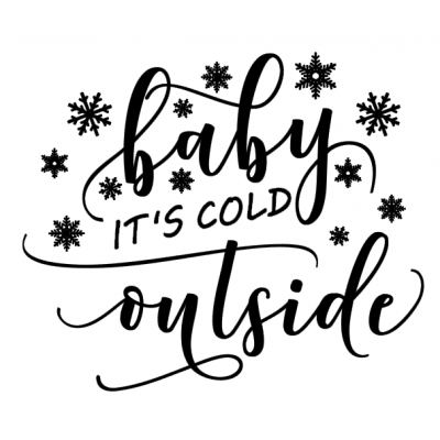 "Sticker ""Baby it's cold outside"""