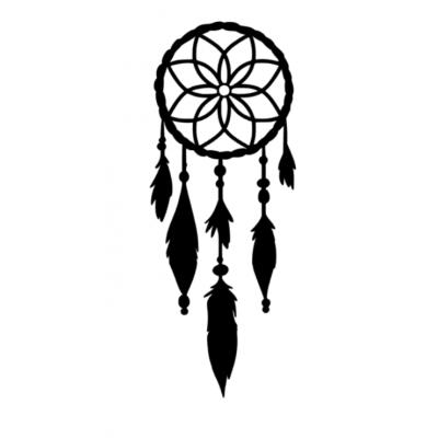 Dromenvanger met veren