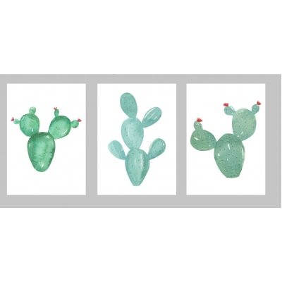 "Posterset ""cactus"" 2"