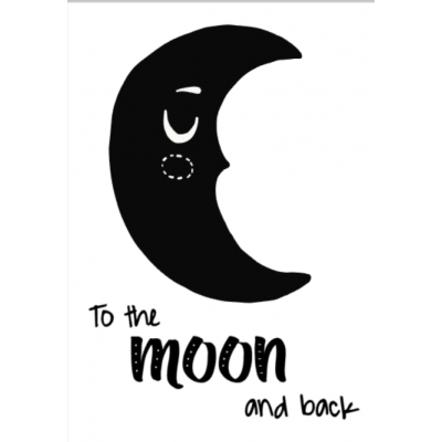 "Poster ""To the moon and back"""