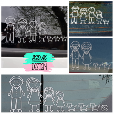 Stickfigure autosticker